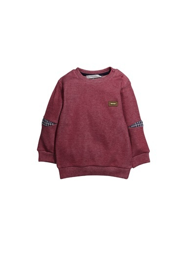 Zeyland Dirsek Ekose Parçalı Sweatshirt (9ay-4yaş) Dirsek Ekose Parçalı Sweatshirt (9ay-4yaş) Bordo